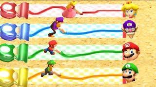 Mario Party: The Top 100 MiniGames - Peach vs Waluigi vs Mario vs Luigi (Master Cpu)