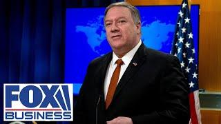 Pompeo holds press conference with the Russian Foreign Minister