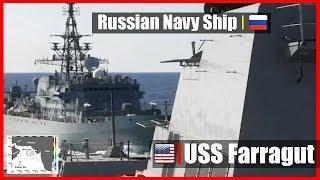 Interaction Between US Navy Ship and Russian Navy Ship 10 Jan 2020