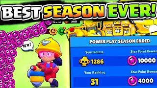 MAX STAR POINTS & TOP GLOBAL!! 35,000 STAR POINTS AT ONCE IN BRAWL STARS!! MORE GOLD SKINS SOON?!