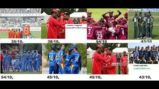 Top 10 Lowest Team Total in ODI Cricket History | Lowest Team Score In ODI Cricket History/
