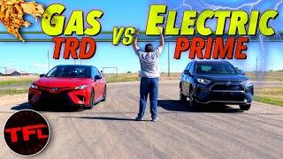 No Way! What's Quicker in a Drag Race the Toyota Camry TRD or the New Best-Selling Toyota RAV4?