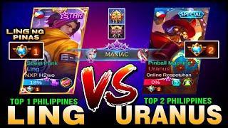 Maniac! Top 1 Philippines Ling vs. Top 2 Philippines Uranus | NXP vs. BlacklistINTL ~ Mobile Legends