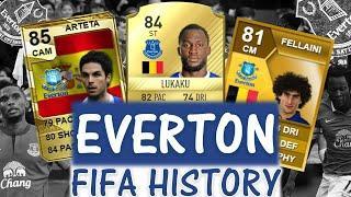 EVERTON FIFA ULTIMATE TEAM HISTORY!! FT. LUKAKU, FELLAINI, ARTETA ETC... (FIFA 10-20)