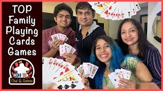 Top Playing Card Games (HINDI) | Chodgi // Double Chaugdi | How to Play | Family Playing Cards Games