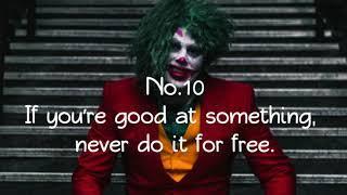 Top ten mind blowing joker quote