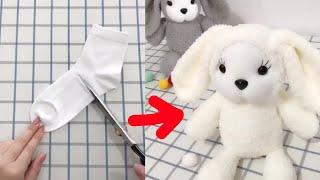 Top 5 Cutest Doll Making Idea From Socks-Amazing Doll Making Tricks-Eye-catching Video