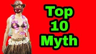 Top 10 Myth busted video in pubg mobile  library mode top 5 trick | PUBG MOBILE library mode glitch