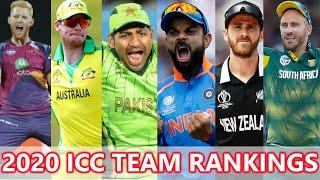2020 ICC Cricket Team Rankings | Top Cricket Teams in Test ODI and T20 Matches | Cricket Highlights