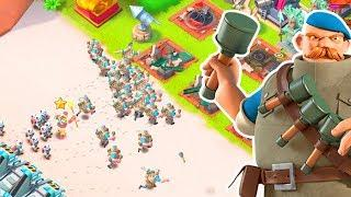 MAXED OUT GRENADIER Attacks in Boom Beach!!