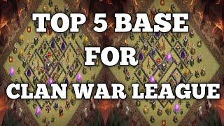 TOP 10 Clan War League Th 10 Base | CWL | Clash of Clans