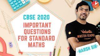 CBSE Class 10 Standard MATHS Important Questions   CBSE 2020 Maths Repeated Questions   Board Exam