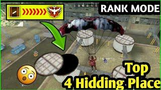 FREE FIRE-TOP HIDDEN PLACE FOR RANK PUSH,GLIDER IN RANK MODE,FREE FIRE HIDDING PLACE IN BERMUDA Map
