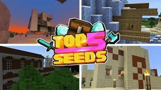 Minecraft Bedrock | TOP 5 BEST SEEDS | TITANIC & FOSSILS! (PE, Xbox, PS4, Switch & W10)