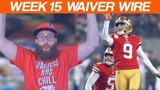Waiver Wire Pickups Week 15 Fantasy Football 2019