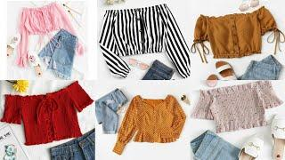 Casual Summer Outfits 2020 | Top Stylish tops desings for girls | trendy jeans top for girls & woman