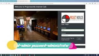 Cyber Cafe Management System in PHP