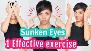 1 Effective FACE YOGA EXERCISE To Fix HOLLOW, SUNKEN EYES/ Face yoga with Blush With Me-Parmita