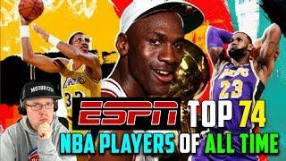 Reacting To ESPN Top 74 NBA Players Of All Time List