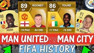 MANCHESTER UNITED VS MANCHESTER CITY FIFA ULTIMATE TEAM HISTORY!! FT. ROONEY, TOURE ETC (FIFA 10-20)