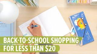 Back to School Shopping for Less than $20