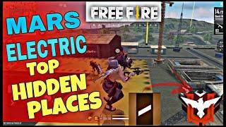 MARS ELECTRIC TOP HIDDEN PLACES IN FREE FIRE | FREE FIRE HIDDING PLACES IN BERMUDA | rank match tips