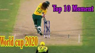 Top 10 Moment's | woman T20 | woman Cup 2020 | Sport power |