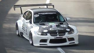Amazing Sounding BMW M3 E92 w/ Side Exhaust in Action on Hillclimb!