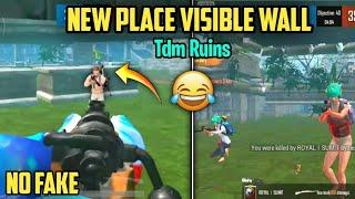 PUBG MOBILE LITE TDM RUINS NEW PLACE VISIBLE WALL | PUBG LITE TDM GLITCH | PUBG LITE TDM TRICKS