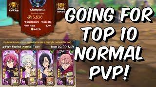 Going For Top 10 Normal PVP with Merlin Elizabeth Control! - Seven Deadly Sins: Grand Cross Global