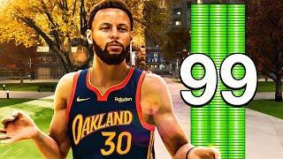 STEPH CURRY NBA 2K21 BUILD - 99 3 POINTER - DEMIGOD PG BUILD