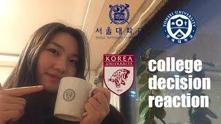 I applied to top 3 universities in Korea | College Decision Reactions 2020