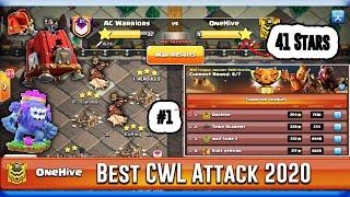 Best OneHive's Clan Attack Grounds in Clan War League 2020 - Pro Attack Clash of Clans!!