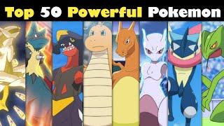 Top 50 strongest Pokemon of all time | Most Powerful Pokemon | Pokemon game | Pokemon in hindi