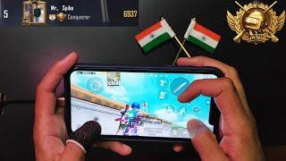 Asia #5 Conqueror HANDCAM | 4 Finger & Gyroscope | PUBG Mobile
