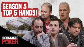 High Stakes Poker Best Poker Hands | Season 5