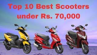Top 10 Best Scooters/Scooty under Rs. 70,000 in India
