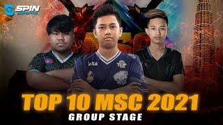 TOP 10 HIGHLIGHTS MSC 2021 FASE GROUP STAGE! EVOS FERXIIC, BLCK WISE MANIAC & WIGHTNITE SAVAGE!