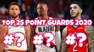 Top 25 Point Guards in the NBA 2019-2020 Season