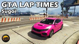 Fastest Sports Cars (Sugoi) - GTA 5 Best Fully Upgraded Cars Lap Time Countdown