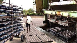 Top Egg Trays making Machine Videos Factory Using Waste Paper | Semi Auto Egg Cartoon making / SSII