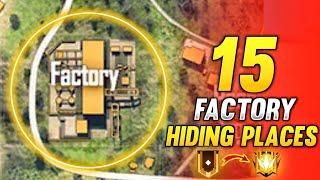 FACTORY HIDDEN PLACE FREE FIRE   TOP 15 NEW HIDING PLACES IN FREE FIRE   RANK PUSH TIPS AND TRICKS