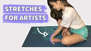 10 min DAILY STRETCHES FOR ARTISTS - Hand, Wrist, Neck, Shoulders & Back