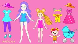 Elsa Family Zoo & Amusement Park. Paper Dolls Dresses For Mother & Daughter Dress Up