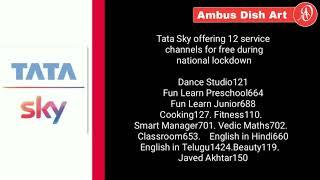 all Dth update news dd Dd free dish bsnl tata sky asiasat 7 5 Independent tv airtel digital dish sun