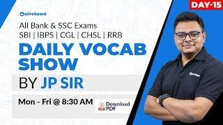 Daily Vocabulary English - Learn Words with Meaning   Bank, SSC Exams   Day 15