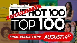 Final Predictions! Billboard Hot 100 Top Singles This Week (August 14th, 2021)