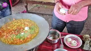 Egg Creamy Tadka With Rice | Surat City food - Indian Street Food | Best Food To Eat In Surat