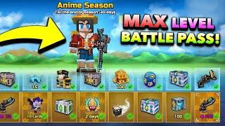 Max Level Anime Battle Pass in Pixel Gun 3D! (Anime Season Weapons)