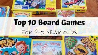 Top 10 board games for 4-5 year olds